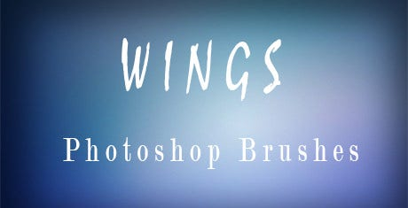 photoshop wings brushes