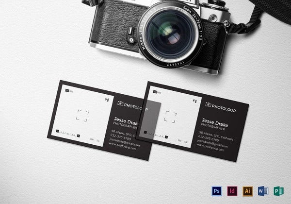 plastic photographer business card template1