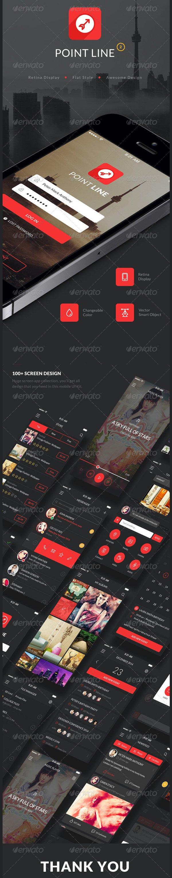 point flat mobile app ui kit1