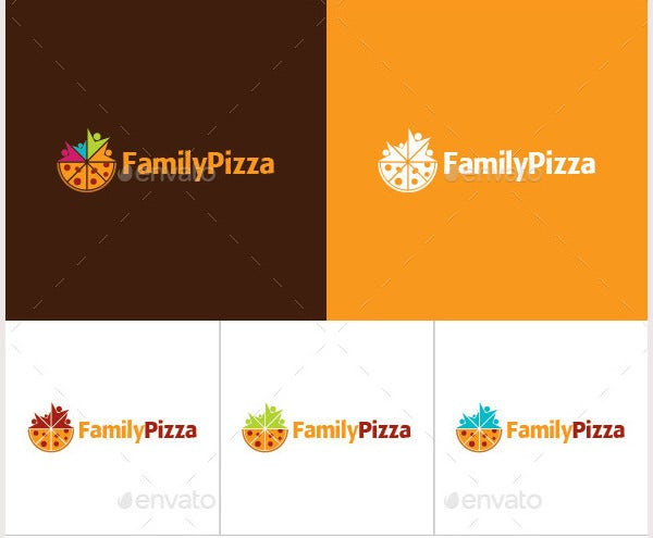 Family Pizza Logo Template