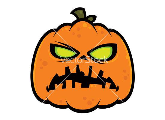 pumpkin zombie vector