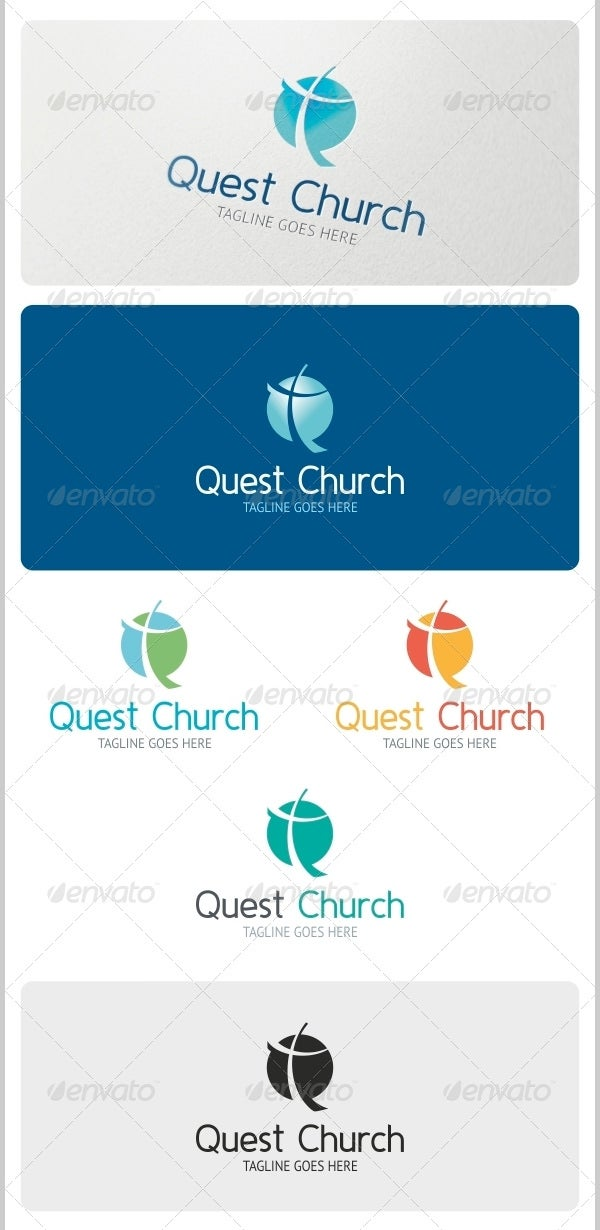 quest church logo template