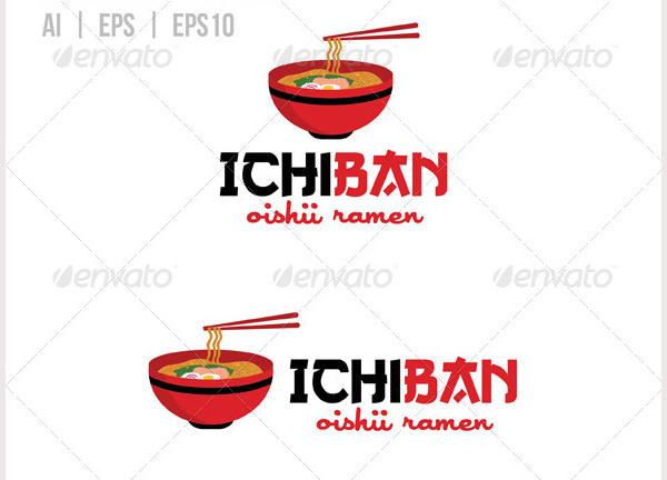 Ramen Restaurant Logo Template