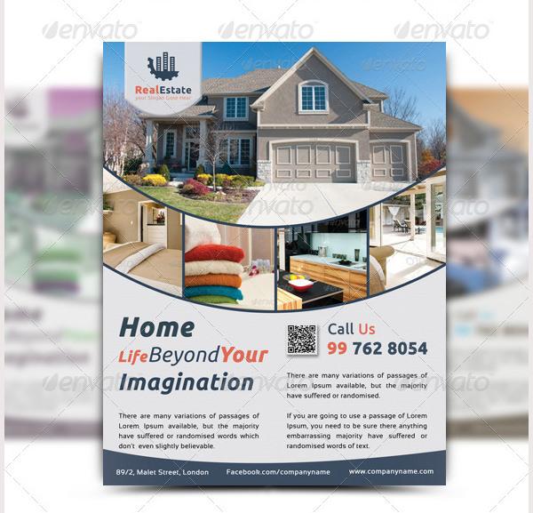 44 psd real estate marketing flyer templates free premium templates. Black Bedroom Furniture Sets. Home Design Ideas