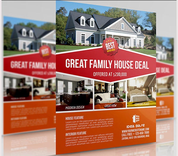 real estate brochure templates - 44 psd real estate marketing flyer templates free