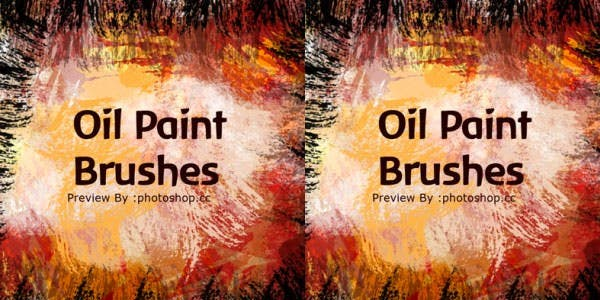real oil paint brushes splatters