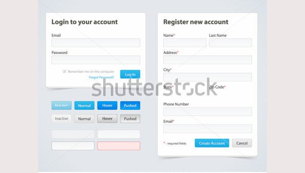 Registration Form and Login Form