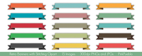 Retro Banners Vectors and Clipart