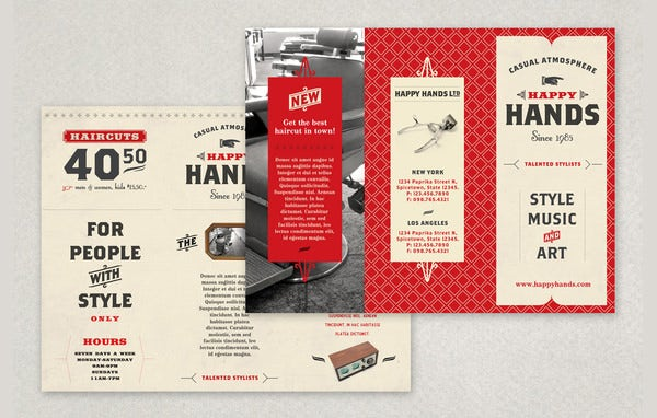 Best Retro Brochure Templates Download  Free  Premium Templates