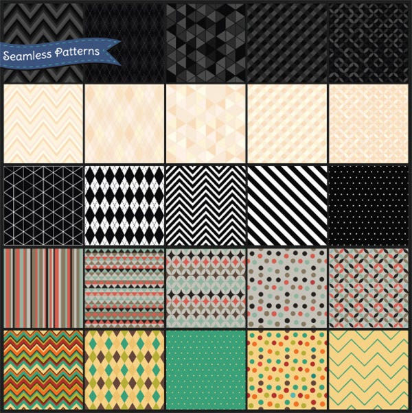 retro geometric seamless background pattern