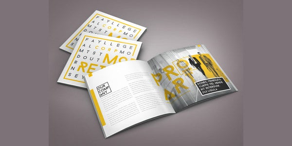 retro indesign brochure template