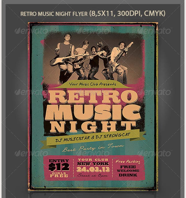 Retro Music Night Flyer