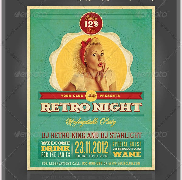 Retro Style Flyer Template - 43+ Free Psd Format Download | Free