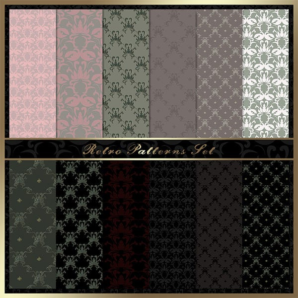 retro patterns set