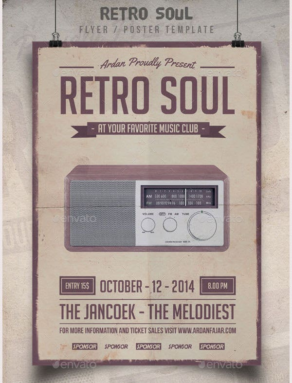 Retro Soul Flyer Template