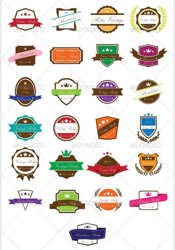 Retro Vector Badges