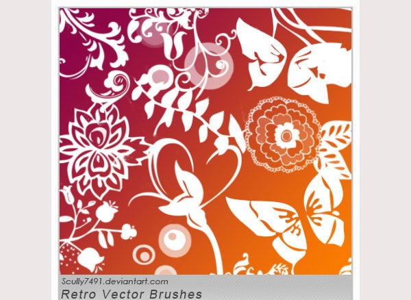 Retro Vector Shapes Brushes
