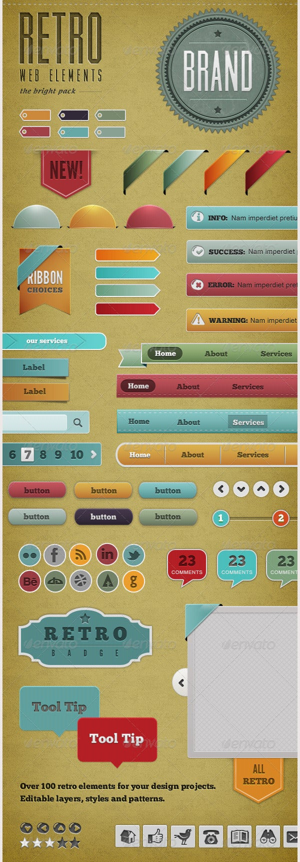 retro web elements0