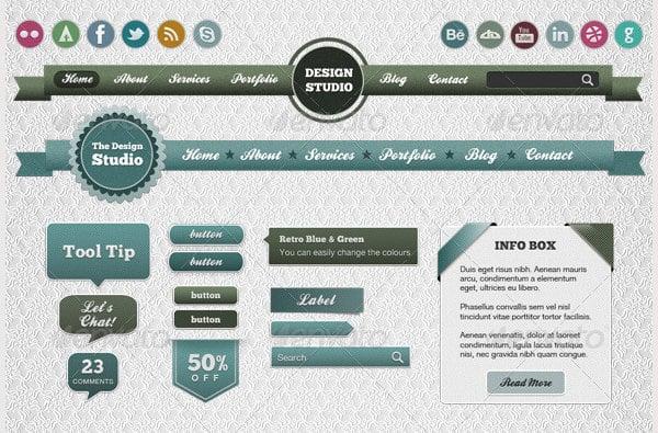 retro web elements4