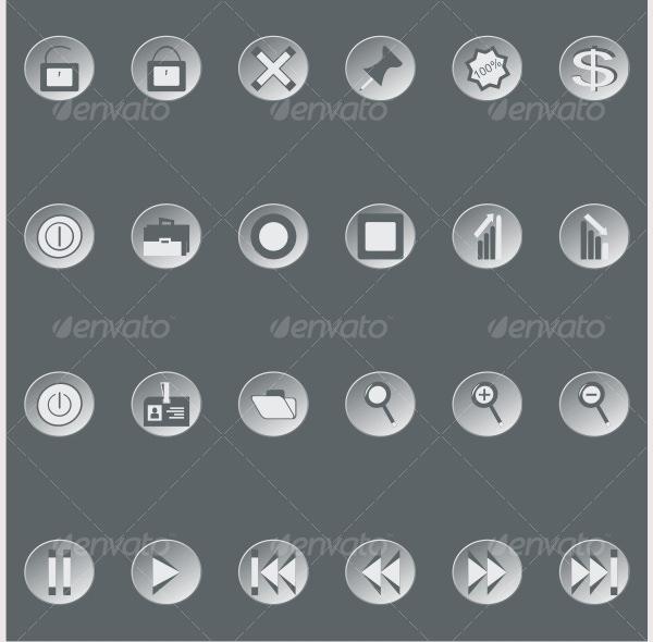 retro web buttons set2