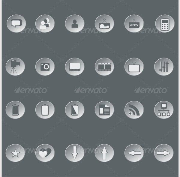 Retro web buttons