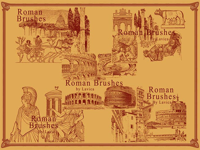 roman architecture photoshop brushes