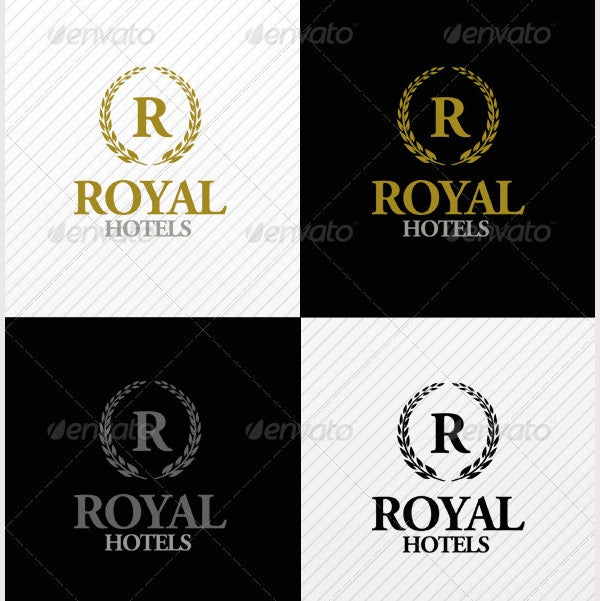 Royal Hotels Logo Template