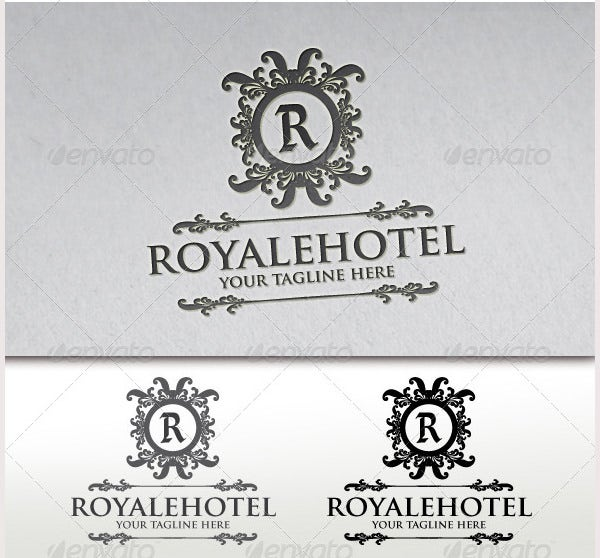 royale hotel crest logo template