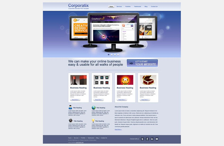 s7 modern corporate business website