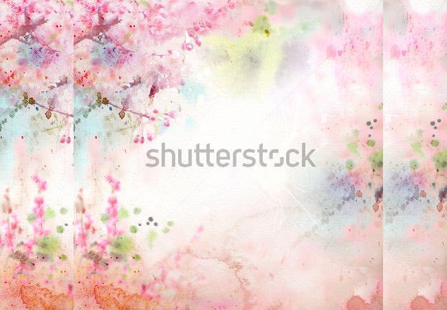 scenic watercolor background