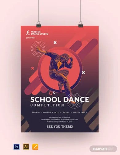 school dance poster template