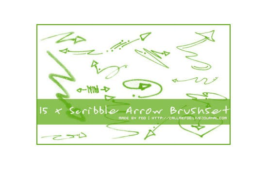 scribble arrow brushset