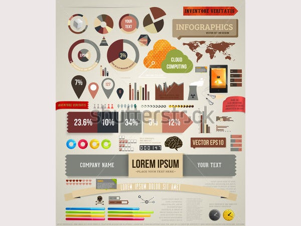 Set elements of infographics for design