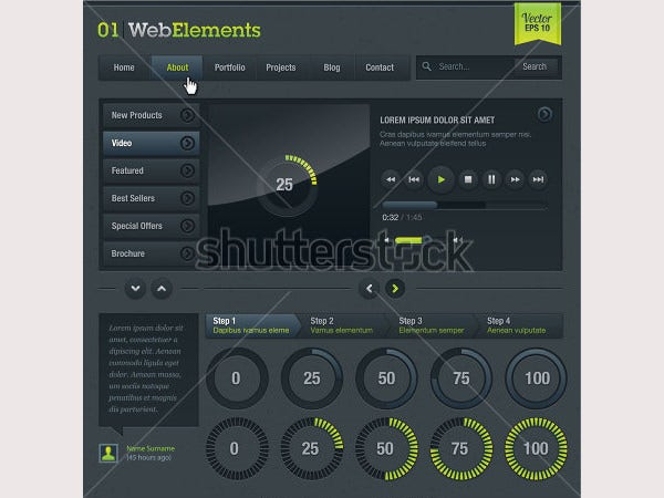 Set of web elements