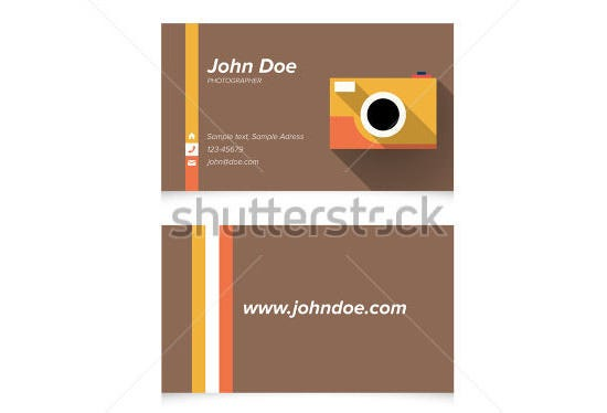 simple light business card