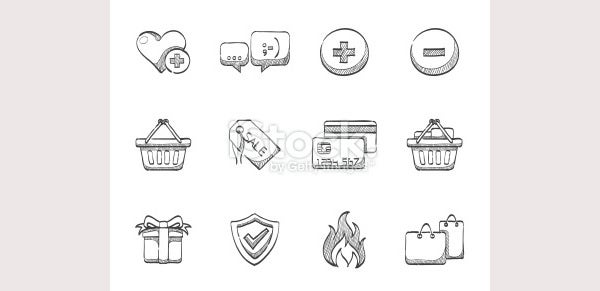 Sketch Icons - Ecommerce