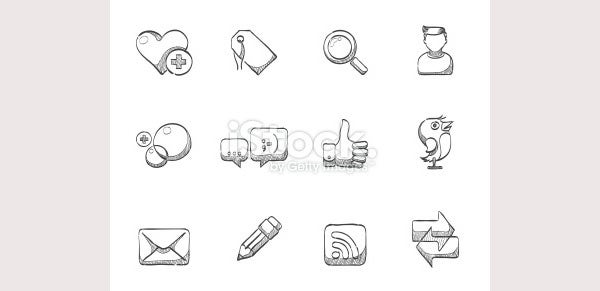 Sketch Icons - Social Network -