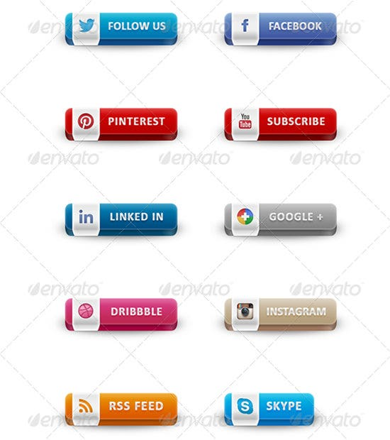 social buttons pack 3