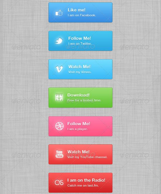 social buttonss
