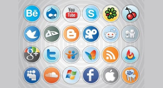 social media buttons 3