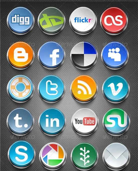 social network buttons 2