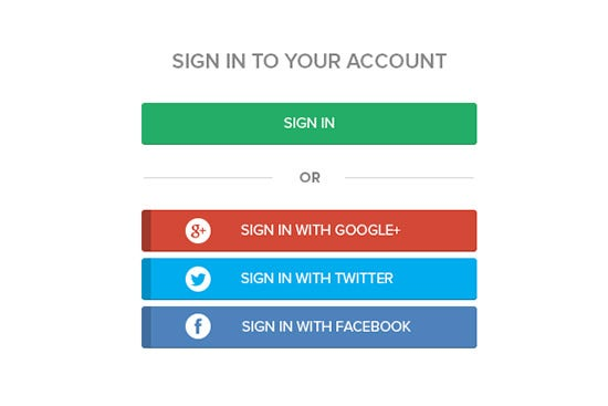 social sign in buttons2