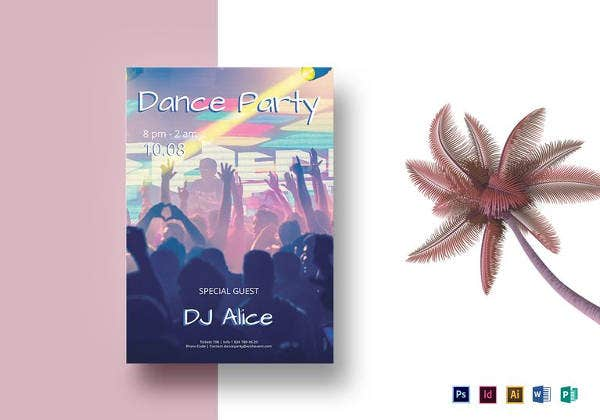 special dj flyer template in psd