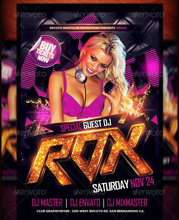 special guest dj flyer template