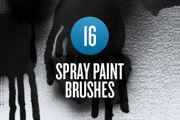 spray paint photoshop brushes