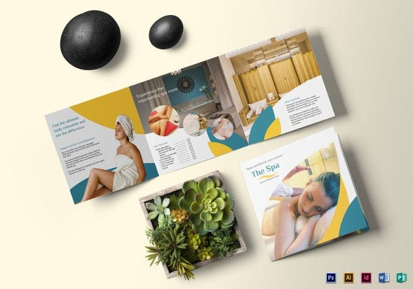 square spa brochure illustrator template