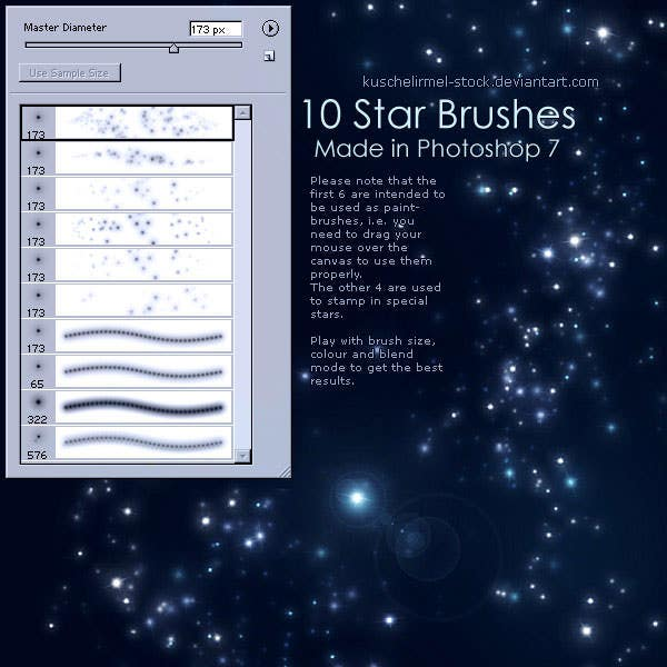 star brushe set