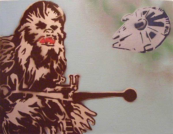 star wars spray paint art