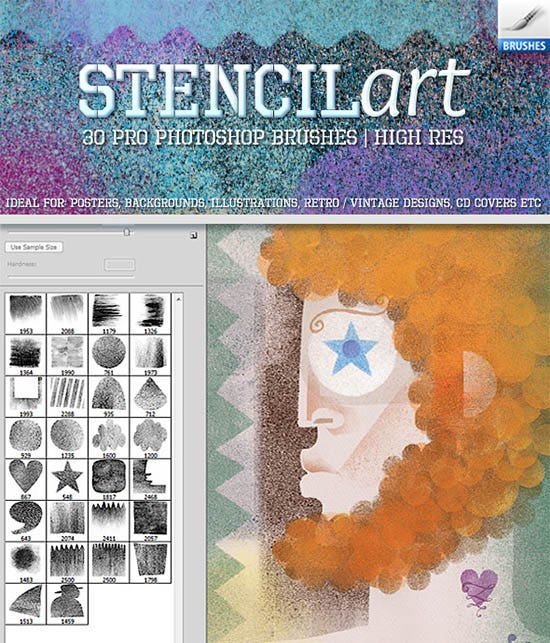 stencil art brushes