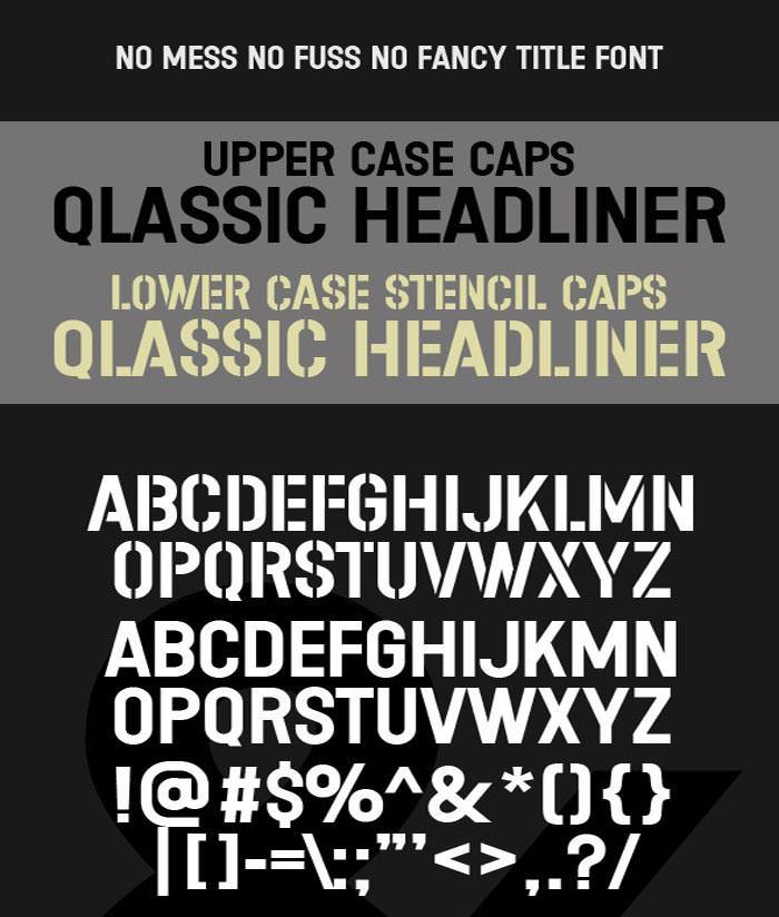 stencil headline caps classic title type1